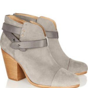 Rag & Bone Harrow Suede Ankle Booties Size 10